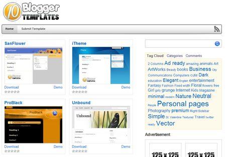 10 Blogger: Plantillas gratuitas para Blogger