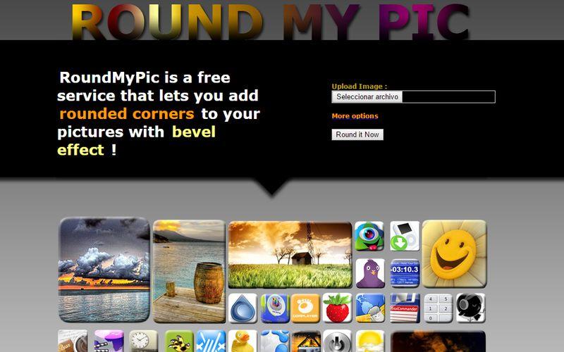 Round My Pic: utilidad web para aplicar relieve y bordes redondeados a tus imágenes