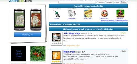 Androlib, más 25000 aplicaciones para Android