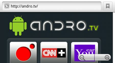 Andro.tv, Canales de television online desde Android
