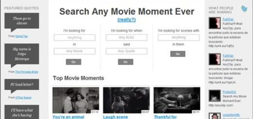 AnyClip, Busca escenas de peliculas por frases o acciones