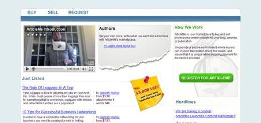 ArticleMe, comprar y vender artículos y posts
