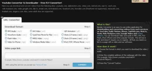 Bender Converter, Descarga videos online y conviertelos al formato que te interese