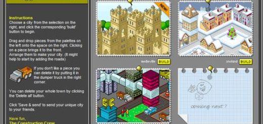 City Creator, Diseña una ciudad y enviala como postal virtual