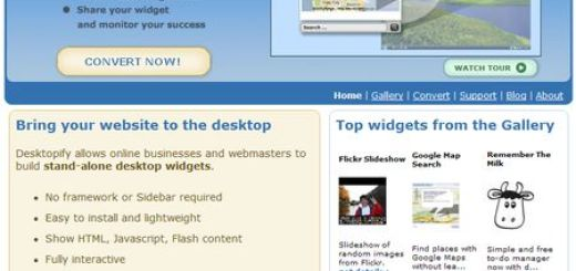 Desktopify - Llevate tus Widgets web al Escritorio