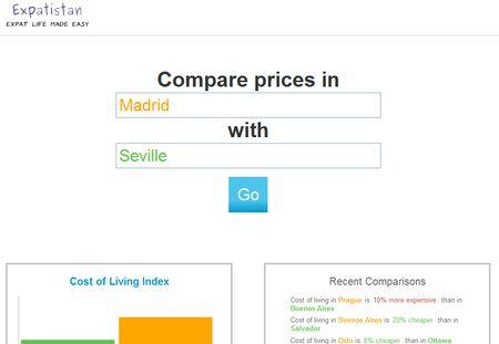 Expatistan, base de datos de precios colaborativa de ámbito mundial