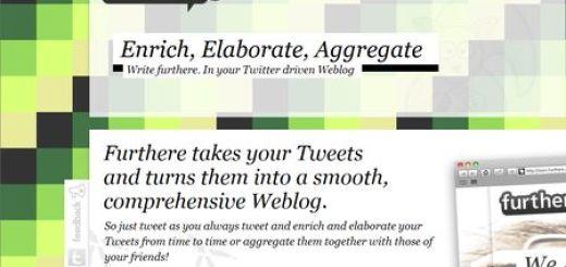 Furthere, Convierte tu Twitter en un Blog