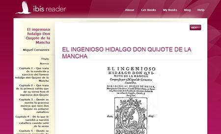 Ibis Reader, lector de eBooks online para Navegador y Móvil