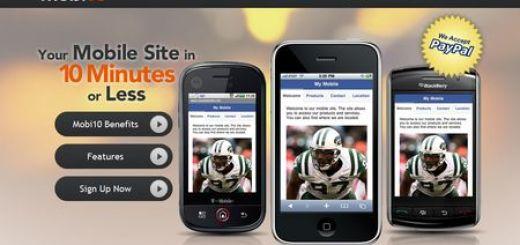 Mobi10, crea tu web para móviles en 10 minutos