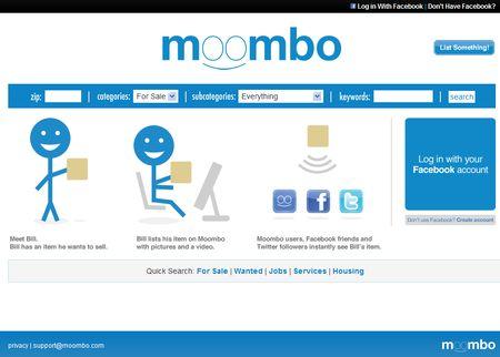 Moombo, Anuncios Clasificados en Twitter y Facebook