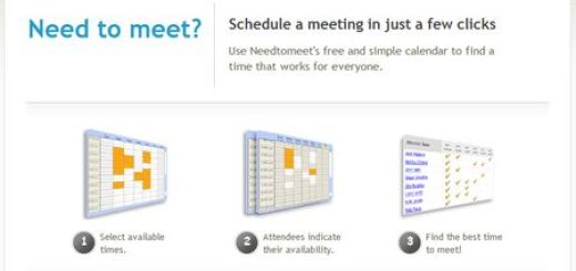NeedtoMeet, Sencillo calendario online