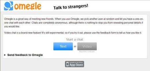 Omegle, Chat de texto con usuarios al azar