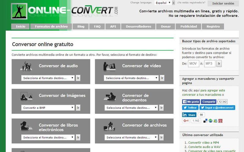 online-ConVert: conversor online para todo tipo de archivos