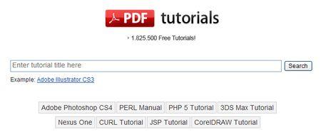 PDF Tuts, Buscador de tutoriales en PDF