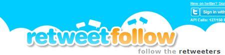 retweetfollow, Busca usuarios de Twitter con tus mismos intereses