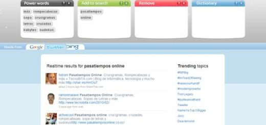 SortFix: Buscador en Google, Bing y Twitter