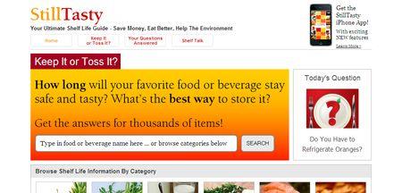 StillTasty, Web informativa sobre caducidad de alimentos