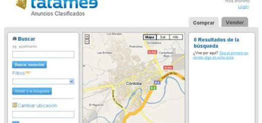 Tatamee, anuncios clasificados geolocalizados en Google Maps