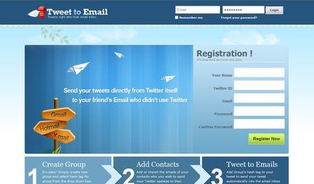 Tweet to Email, Envia tus tweets por email a amig@s que no usan Twitter