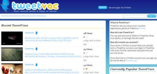 TweetVac, Comparte tus fotos y videos de vacaciones en Twitter
