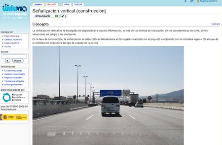 Wikivia, La enciclopedia de la carretera