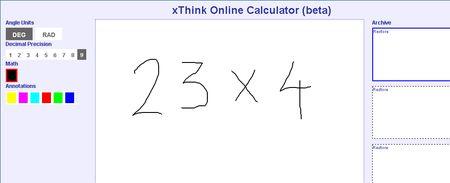Think Online Calculator, Calculadora online al estilo Paint