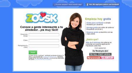Zoosk, citas online en Facebook, MySpace, Hi5, ...