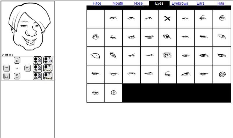 DigiBody: aplicación web gratis para crear caricaturas