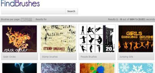 FindBrushes, mas de 13000 brushes (pinceles) gratuitos para Photoshop