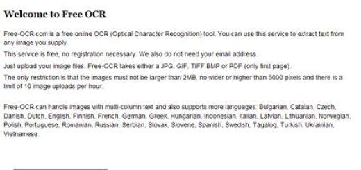 Free OCR, Convierte texto incluido en imagenes a texto editable, online y gratis