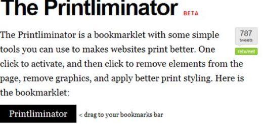 The Printliminator, ahorra tinta al imprimir una web