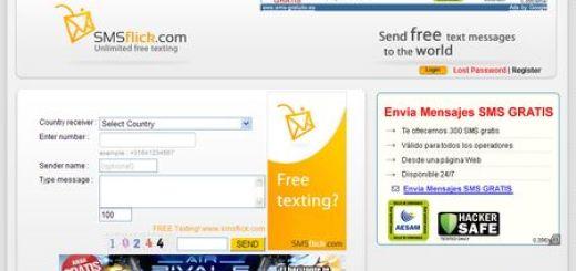 SmsFlick, SMS gratuitos e ilimitados desde internet