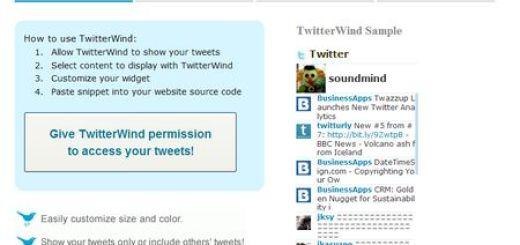 TwitterWind, Widget para mostrar tu timeline en tu blog