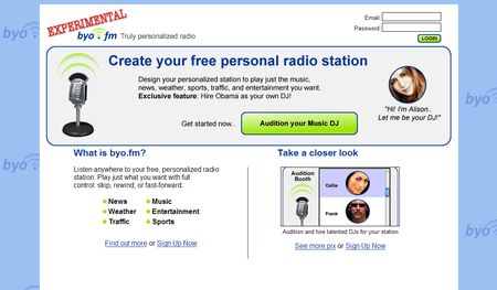 byo.fm, Crea tu radio personalizada