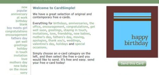 CardSimple, Sencillo servicio para enviar postales virtuales