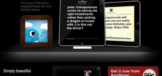Chirp Frame, Convierte tu iPad en un marco con tweets