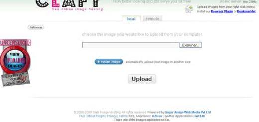 Clafy, Servicio gratuito para alojar y compartir imagenes