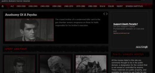 Horrorteque, Peliculas de terror de dominio publico