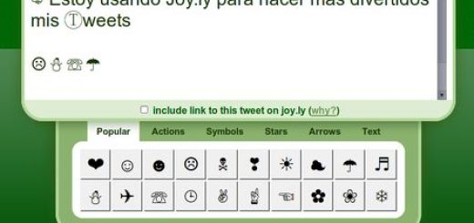 Joy.ly, Incluye emoticonos y simbolos en tus tweets