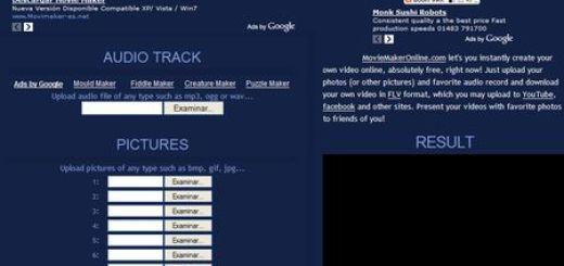 Movie Maker Online, Crea sencillos videos en linea
