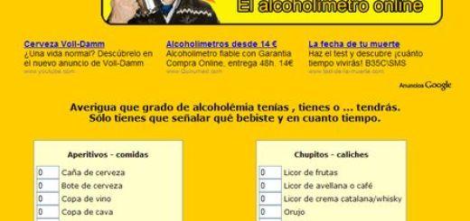 NoEstoyBorracho.com, Realiza un Test de Alcoholemia online