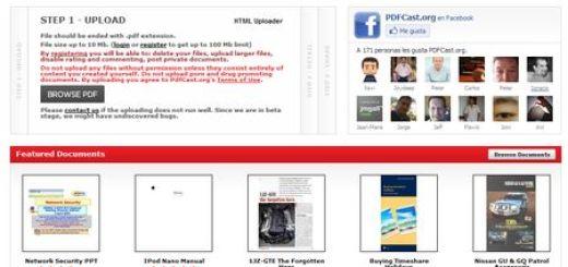 PDFCast, El Youtube de los documentos PDF