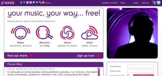 Psonar, Reproduce y cataloga tu musica totalmente online