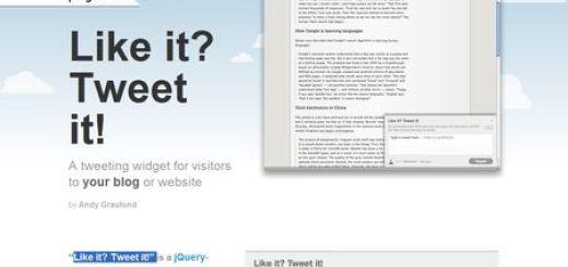 Like it? Tweet it!, Widget para escribir tweets desde tu blog o web