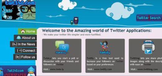 Twt140, aplicaciones gratuitas para Twitter