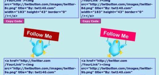 "Twtbutton.com, Coleccion de originales botones de ""follow me"""