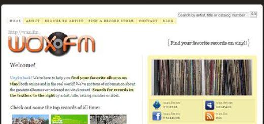 wax.fm, Encuentra tus albumes favoritos en vinilo