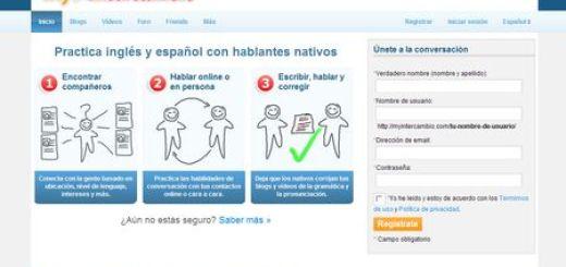 MyIntercambio, Practicando ingles y español con hablantes nativos