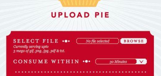Upload Pie, Comparte archivos de forma temporal