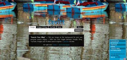 Favitt, un multibuscador con los principales motores de búsqueda integrados
